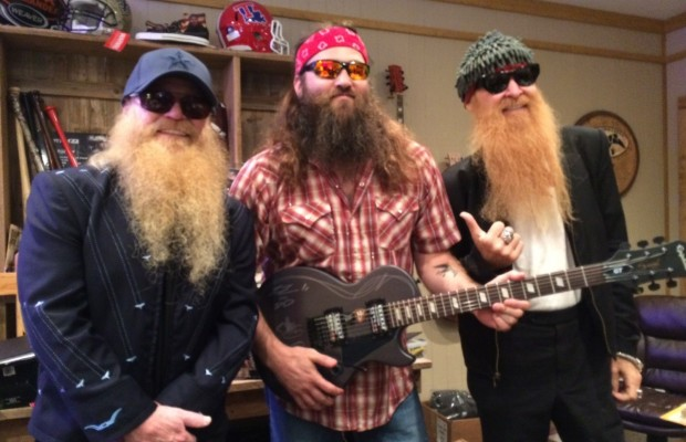 ZZ Top on the set of Duck Dynasty
