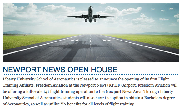 Liberty University and Freedom Aviation Open House