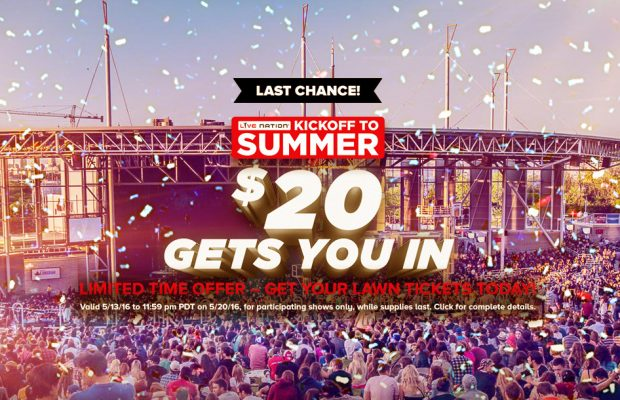 Summer Sale 20 Lawn Tickets 106 9 The Fox